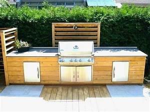 Meuble De Cuisine Exterieur : plan de travail cuisine exterieure ~ Melissatoandfro.com Idées de Décoration