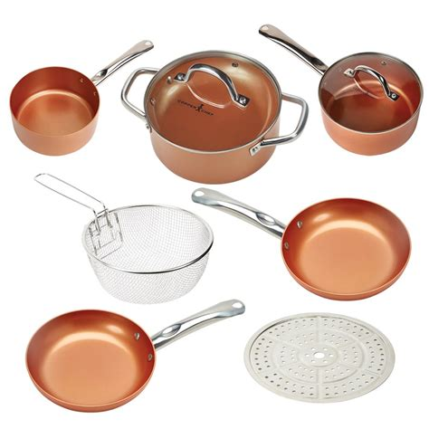 cookware sets amazon rated pans copper chef pan kitchen pots ceramic stick round non roasting frying aluminum accessories coating steel