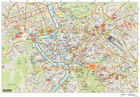 royalty  rome illustrator vector format city map
