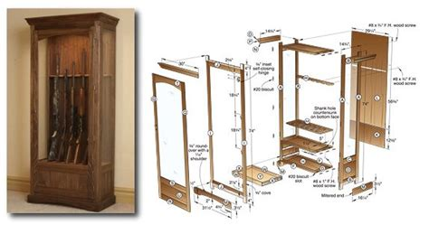 Free Wooden Gun Cabinet Plans by Gun Cabinets Build Your Own Woodworking Plans