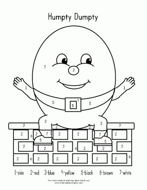 humpty dumpty activities and freebies kindergarten nation 489 | HumptyColorbyNumber