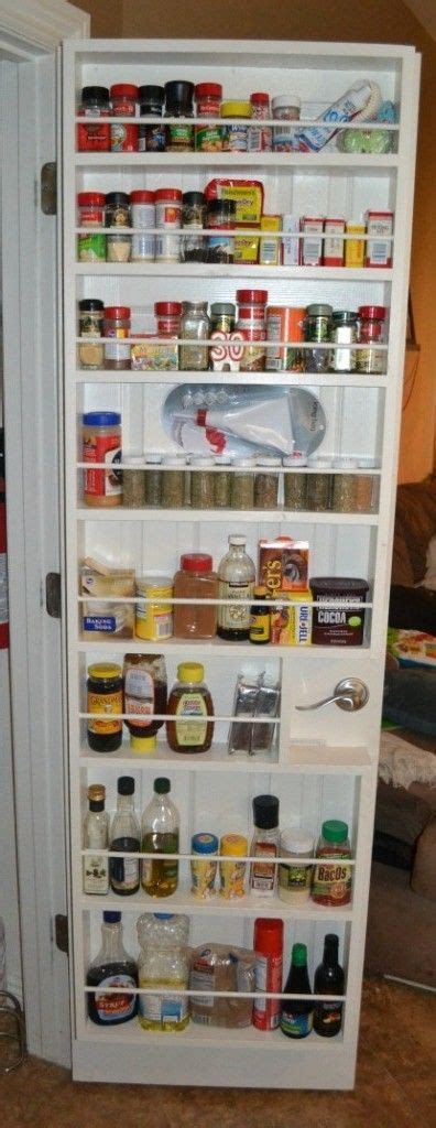 Pantry Spice Rack Organizer by Diy Spice Rack For Your Pantry Door Diy Organizing