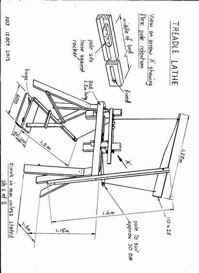 Lathe Pole Woodworking Wood Tools Turning Plans