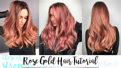 Rose Gold Hair Tutorial
