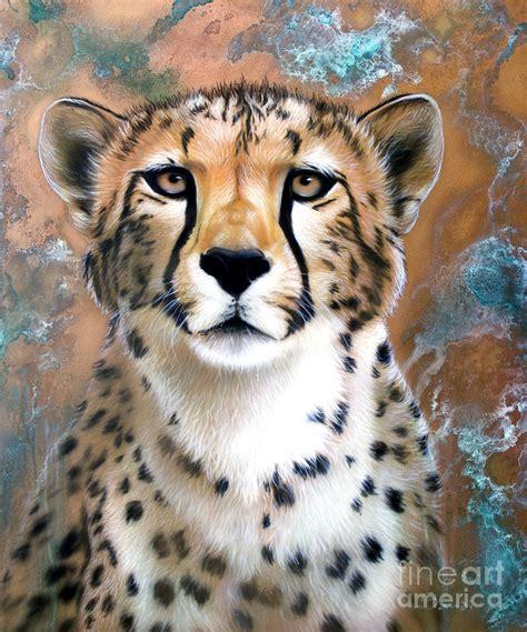copper flash cheetah painting by sandi baker