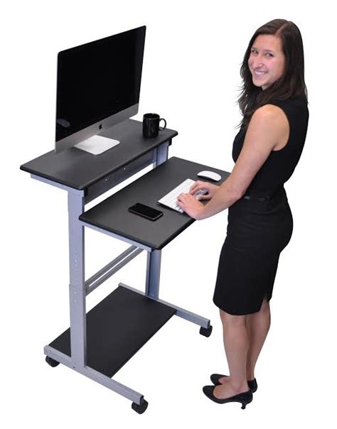 stand up desk options all stand up workstation by luxor options desks