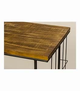 Table Basse Sur Roulette : table basse bois et m tal sur roulettes ~ Melissatoandfro.com Idées de Décoration