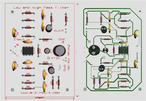High Pass Filter Layout Pcb Circuit Filters
