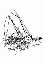 Ship Coloring Sailing Clipper Drawing Getdrawings Pages Printable sketch template