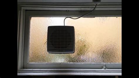 bathroom window vent fan bathroom window fan installation youtube