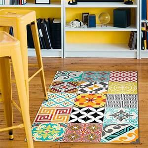 Tapis Salon Amazon : tapis vinyle carrelages mixtes 60 x 100 cm stickers art et design artistiques ambiance sticker ~ Melissatoandfro.com Idées de Décoration