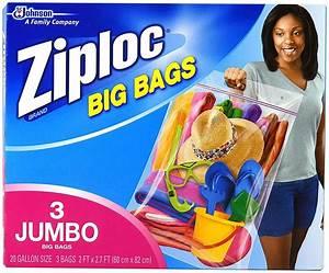 Amazon.com: Ziploc Big Bag Double Zipper, X-Large, 4-Count ...