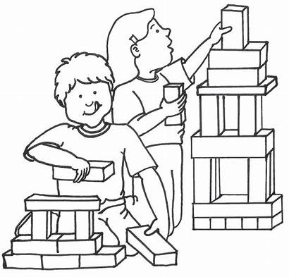 Clipart Playing Center Blocks Building Clip Block