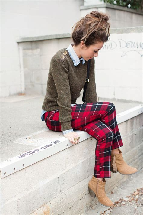 Fashion Forward Plaid Pant Ideas for Women u2013 Designers Outfits Collection
