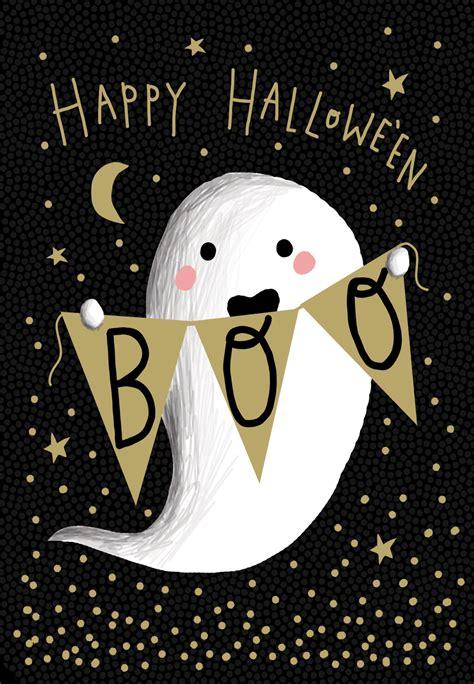 boo  halloween card   island