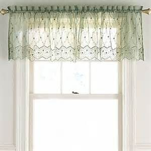 lisette embroidered valance jcpenney home kitchen and