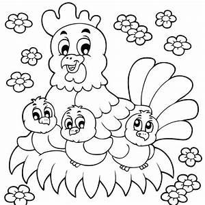 Coloriage De Paque : coloriage de p ques la poule et ses adorables poussins ~ Melissatoandfro.com Idées de Décoration