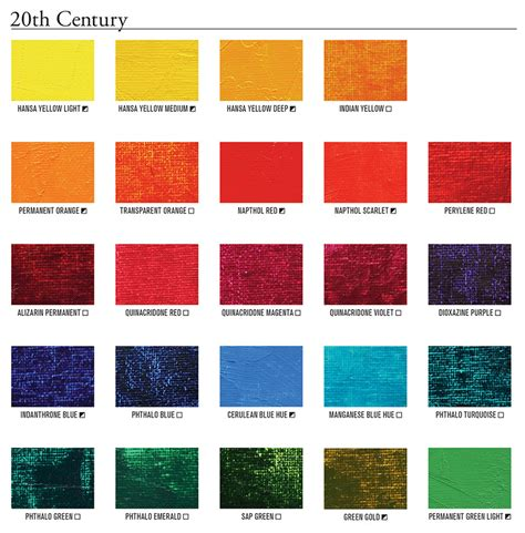 Mineral And Modern Colors Painters' Access To Color