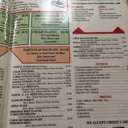El Patio Restaurant Menu by El Patio Restaurant 14 Reviews Mexican 548 W St