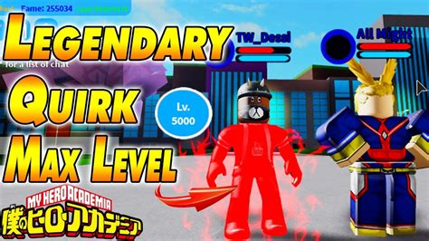 [new Code] Legendary Quirk & Max Level Boku No Roblox