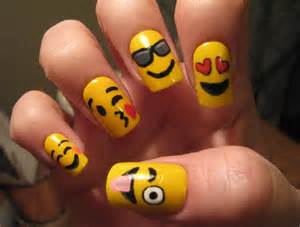 Emoji nail art tutorial