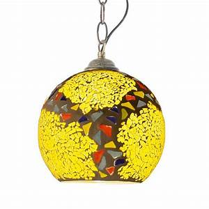 Fashion mosaic glass balcony pendant lights creative