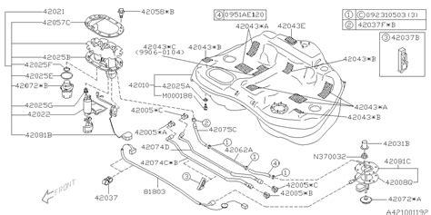 Baja Engine Diagram by 42012ae03a Genuine Subaru Fuel Tank Complete