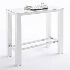 Table De Bar Blanche : bars tables et chaises table de bar design janis 120cm blanche inside75 ~ Voncanada.com Idées de Décoration
