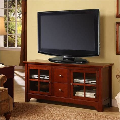 solid wood tv table walker edison 52 inch solid wood tv stand with drawers