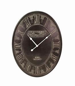 Horloge Murale Grise : horloge murale ovale grise ~ Teatrodelosmanantiales.com Idées de Décoration