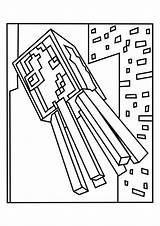 Squid Minecraft Coloring Printable sketch template