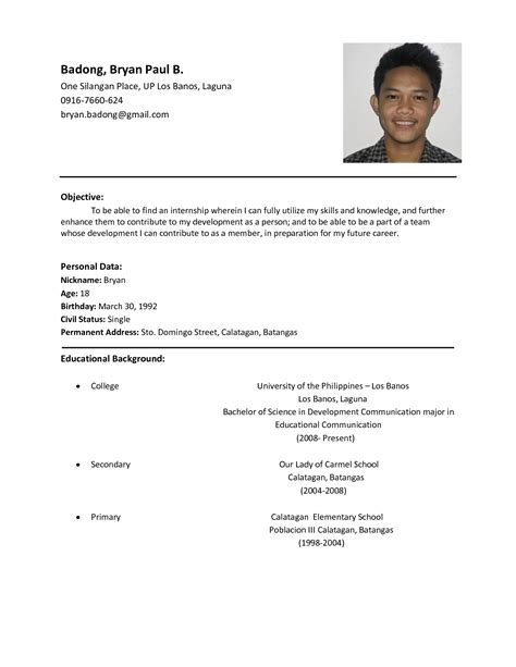 How To Make A Simple Work Resume by Exles Of Resumes Simple Resume With No Work