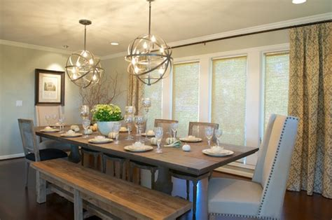 kitchen table lighting dining room farmhouse tables how to nest for less Farmhouse