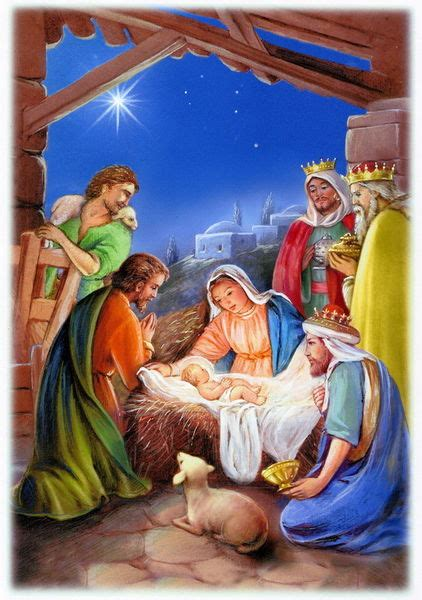 religious christmas nativity birth  jesus drawing art