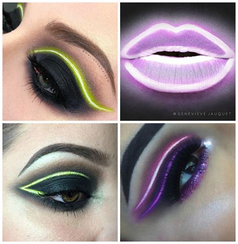 neon makeup trend   shook alldaychic