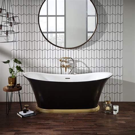 black bathrooms  ways create  dramatic space real homes