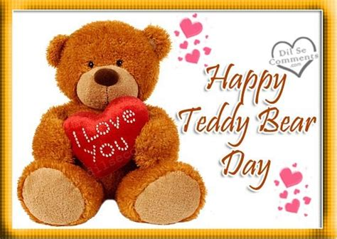 happy teddy day eye blinking animated picture