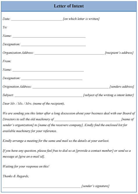 letter  intent template doliquid