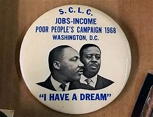 SCLC's 1968 Poor People's Campaign button | Auction Finds