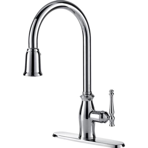 kitchen faucet with pull sprayer ultra faucets traditional collection single handle pull