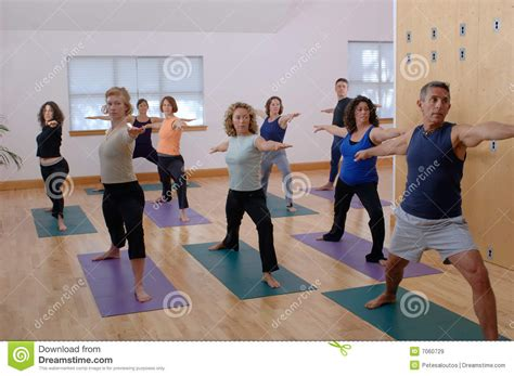 yoga class royalty  stock images image
