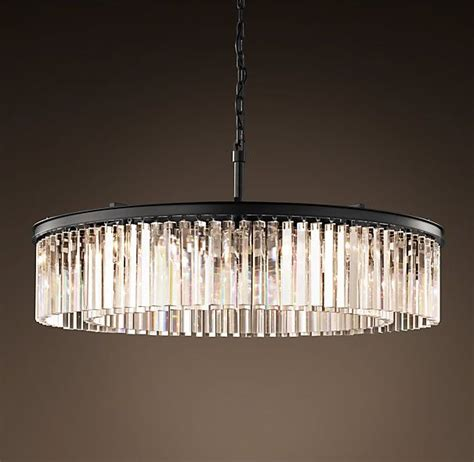 Large Circular Chandelier by Rhys Clear Glass Prism Chandelier 43 Quot Grey Iron