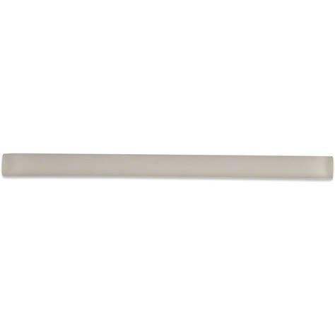 splashback tile ivory 3 4 in x 6 in glass pencil liner