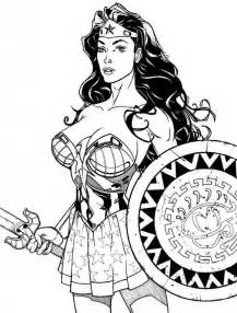 wonder woman coloring pages images