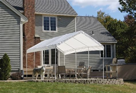 Canvas Storage Sheds Menards by White Canopies For Backyard Events
