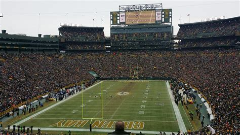 lambeau field section  rateyourseatscom