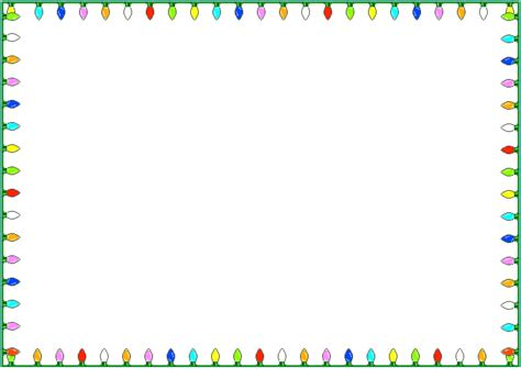 christmas lights borders christmas lights card and decore