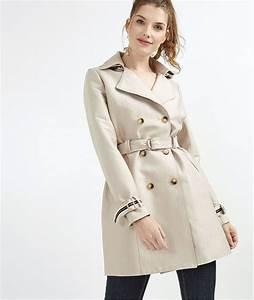 Trench Femme Avec Capuche : trench femme uni avec capuche beige grain de malice ~ Farleysfitness.com Idées de Décoration