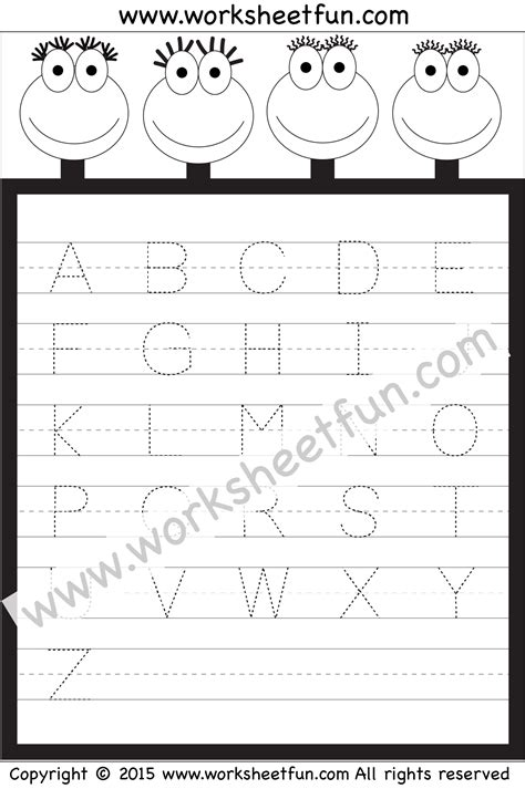 letter tracing worksheet capital letters