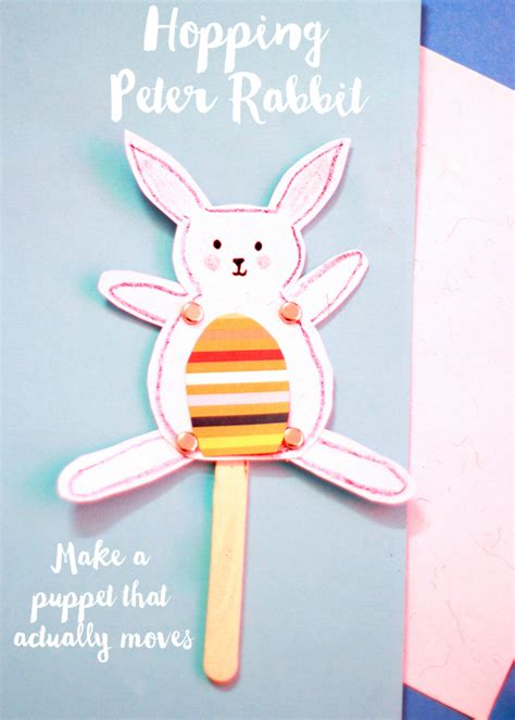 hopping peter rabbit puppet craft   takes
